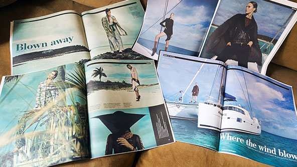 时尚杂志刊物从巴哈马双体船包租