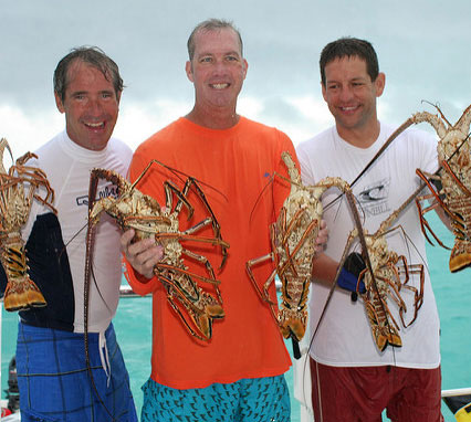 Lobsters in the Caribbean