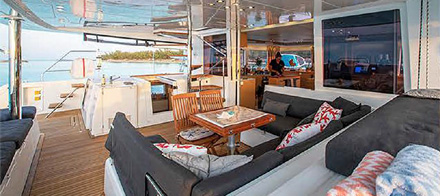 Whispers II Deck - 56ft Lagoon 560 Catamaran Yacht